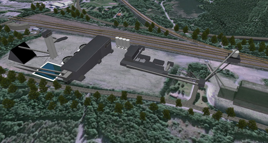 Possible planned new layout Grangesberg